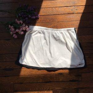 Vintage Nike White Tennis Skirt w/Slit